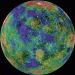 Magellan radar topographical map of Venus (false color)